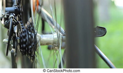 Bicycle Roller Chain and Gears - Running chainring over the...