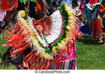 American Indian Dance - Colorful American Indian costume