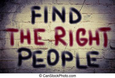 achar, a, direita, pessoas, conceito,