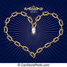 Heart with chains