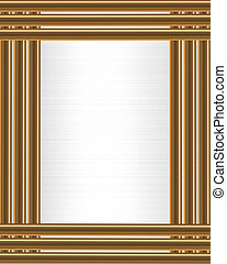 Gold Bars on White Satin border frame