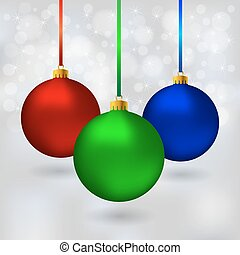 Color Christmas balls