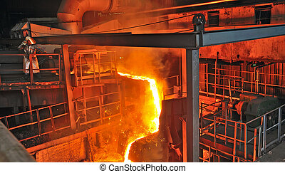 production of cast iron inside of plant