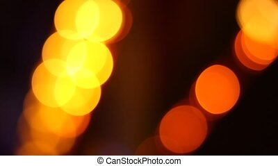 Yellow Transitory Spots Bokeh - Warm lights discs, yellow...