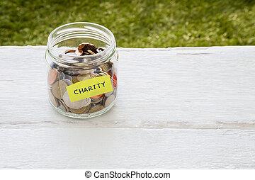 caridad, dinero, distribución,