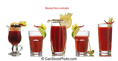 Bloody Mary cocktails - Collection of Bloody Mary alcoholic...