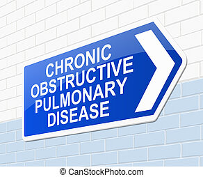 Chronic obstructive pulmonary disease concept - Illustration...