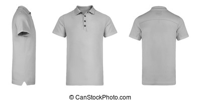 Men's Grey Polo Shirt multiSides Template