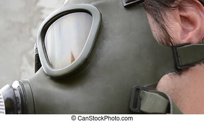 Gas Mask Glass Reflections - Scarry reflections of the gas...