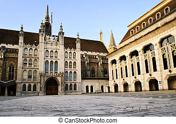 Guildhall building and Art Gallery in City of London