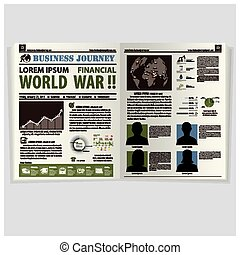 Business Journey Newspaper Lay Out Design Template
