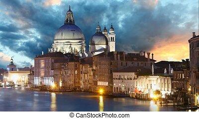 Venice - Grand Canal and Basilica Santa Maria della Salute,...