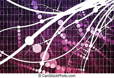 Purple Technology Abstract as a Data Energy Grid