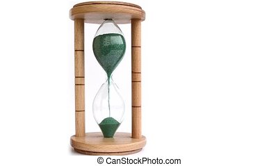 Green Sand Hourglass Time Lapse