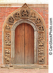 Beautiful doorframe in Patan, Nepal - Intricate and...