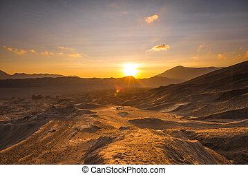 Sunrise at a desert