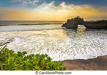 Ray of Lights at Pura Batu Bolong, Tanah Lot, Indonesia