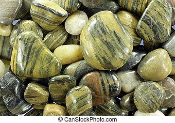 River stones.