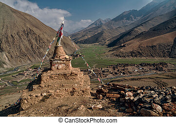 Buddhist shrine - Old shrine in picturesque Himalayas...