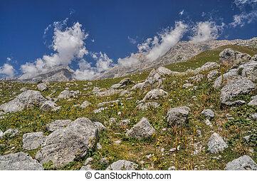Kyrgyzstan - Scenic mountain range in Kyrgyzstan