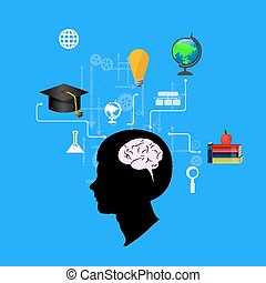 The concept of education, science and knowledge vector