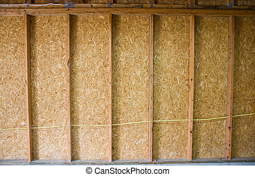 Plywood Wall - A section of plywood wall in a remodel...