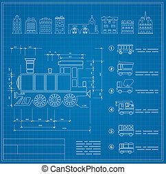 Technical drawings for locomotive engineers