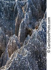 Razor sharp Tsingy - Beautiful view of the unique limestone...