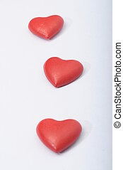 Red heart for love and valentines day celebration