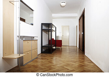 Corridor with shoe cabinet - Modern interior and details in...