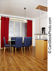 Dinette - Modern interior and details in european apartment