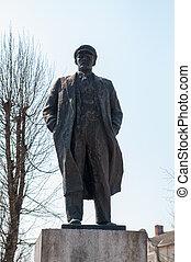 Lenin monument - Monument to Lenin. Kaliningrad region....