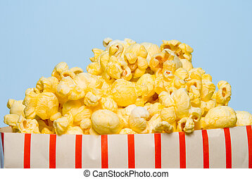Popcorn - A big over stuffed bag of delicious popcorn.