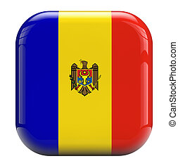 Moldova flag isolated symbol icon.