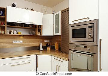 Corner of moder kitchen - Modern interior and details in...