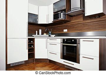 Whole moder kitchen - Modern interior and details in...