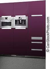 Violet kitchen - Modern interior and details in european...