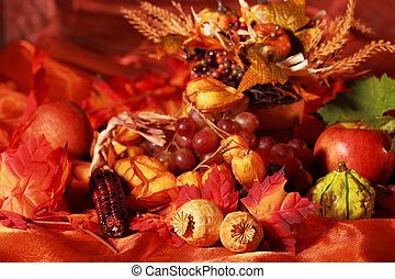 Thanksgiving - Still life and harvest or table decoration...