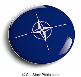 NATO flag design element isolated.