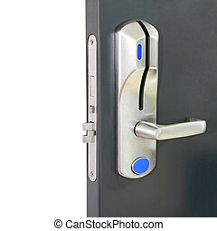Card door lock - Entrance door with electronic card lock...