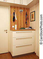 Shoe cabinet - Modern interior and details in european...