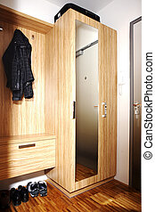 shoe cabinet and wardrobe - Modern interior and details in...
