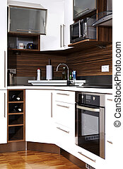 Corner of kitchen - Modern interior and details in european...