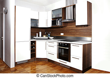 Whole corner of modern kitchen - Modern interior and details...