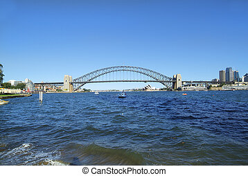 Australia, NSW, Sydney - Australia, Harbor bridge and Sydney...