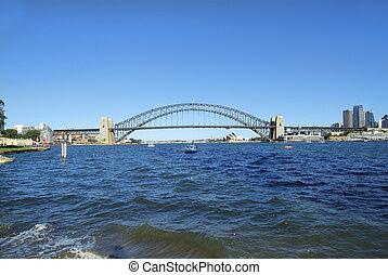 Australia, NSW, Sydney - Australia, Harbor bridge and Sydney...
