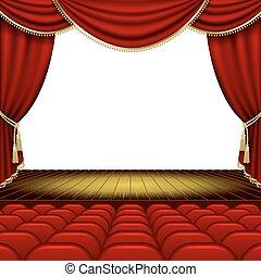 teatro, fase,