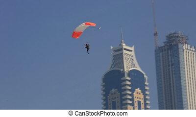 Parachute Landing - extreme sport parachute