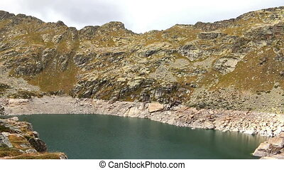 Landscape - Beautiful mountain peaks and lakes in Andorra