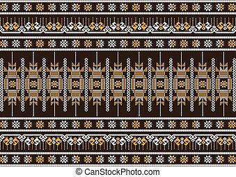 silk cloth brown and orange pattern, Vector illustration